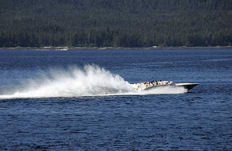 alaska racing tours - thriller boat
