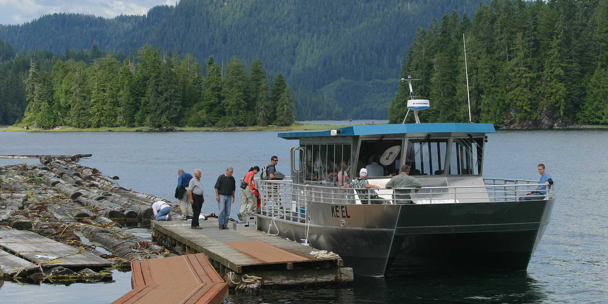 passengers boarding a tour boat