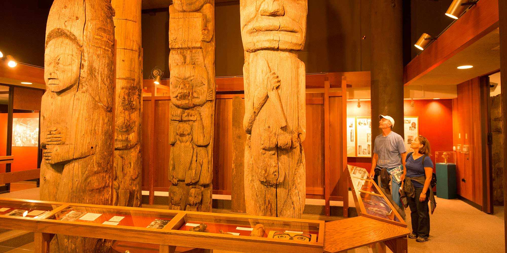 totem pole and native art museum