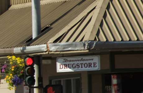 outside drug store