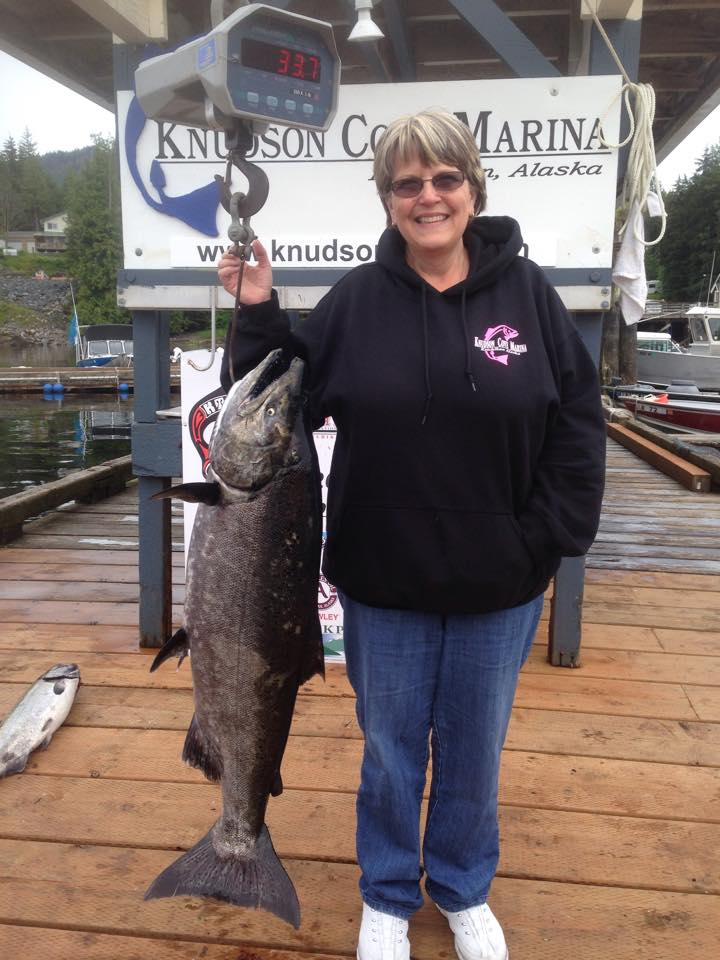 3rd place winner in the Ketchikan Salmon Derby - caught with Anglers Adventures