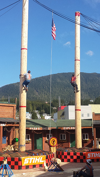 Our Athletes competing in the 50ft speed climb