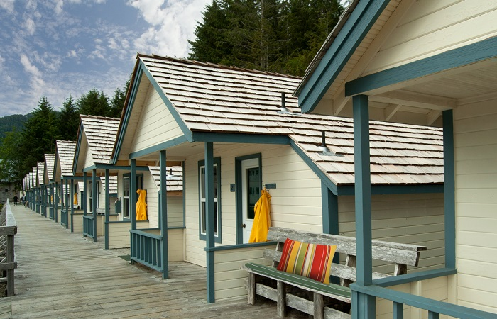 Relax in historic ocean-front cabins for two!